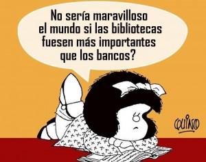 Bibliotecas y Mafalda
