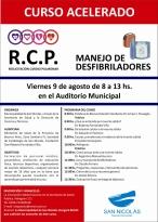 CURSO RCP y MANEJO DE DESFIBRILADORES - 2013